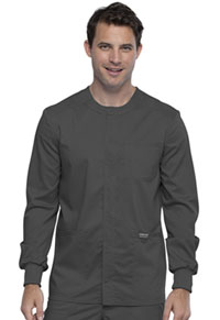 Cherokee Workwear Men's Snap Front Jacket Pewter (WW380-PWT)