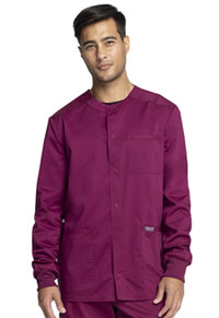 Cherokee Workwear Men's Snap Front Jacket Wine (WW380-WIN)