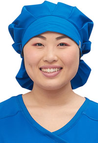 Cherokee Workwear Bouffant Scrubs Hat Royal (WW508AB-ROY)