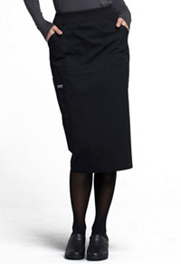 Cherokee Workwear 30 Knit Waistband Skirt Black (WW510-BLK)