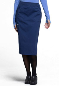 "WW Professionals 30"" Knit Waistband Skirt (WW510-NAV) (WW510-NAV)"