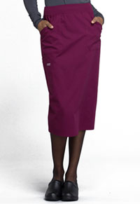 Cherokee Workwear 30 Knit Waistband Skirt Wine (WW510-WIN)