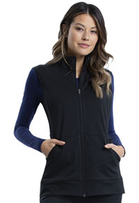 WW Revolution Zip Front Knit Vest (WW521-BLK) (WW521-BLK)