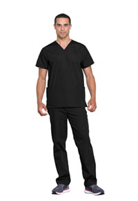 Cherokee Workwear Unisex Top and Pant Set Black (WW530C-BLKW)