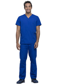 Cherokee Workwear Unisex Top and Pant Set Electric Blue (WW530C-EBWM)
