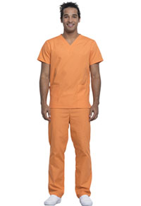 Cherokee Workwear Unisex Top and Pant Set Fresh Orange (WW530C-FOWM)