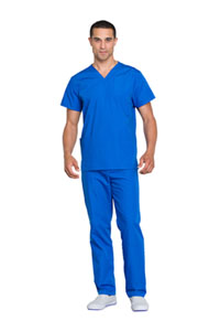 Cherokee Workwear Unisex Top and Pant Set Royal (WW530C-ROYW)