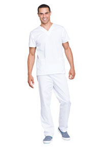 Cherokee Workwear Unisex Top and Pant Set White (WW530C-WHTW)