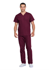 Cherokee Workwear Unisex Top and Pant Set Wine (WW530C-WINW)
