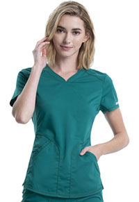 Cherokee Workwear V-Neck Top Hunter Green (WW601-HUN)
