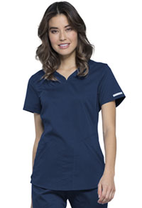 Cherokee Workwear V-Neck Top Navy (WW601-NAV)