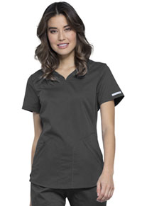 Cherokee Workwear V-Neck Top Pewter (WW601-PWT)
