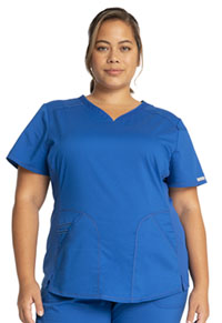 Cherokee Workwear V-Neck Top Royal (WW601-ROY)