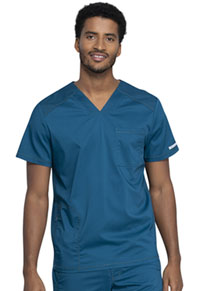 Cherokee Workwear Men's V-Neck Top Caribbean Blue (WW603-CAR)