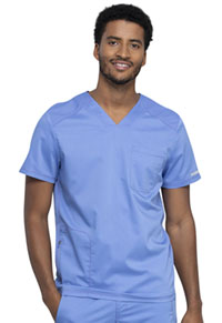 Cherokee Workwear Men's V-Neck Top Ciel Blue (WW603-CIE)