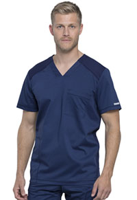 Cherokee Workwear Men's V-Neck Top Navy (WW603-NAV)