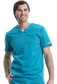 Cherokee Workwear Men's V-Neck Top Teal Blue (WW603-TLB)