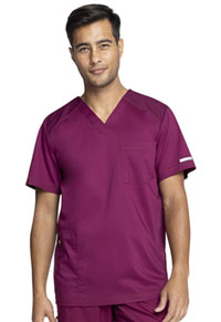 Cherokee Workwear Men's V-Neck Top Wine (WW603-WIN)