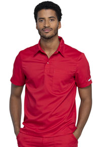 Cherokee Workwear Men's Polo Shirt Red (WW615-RED)