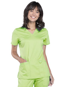 Cherokee Workwear V-Neck Top Appletini (WW620-APLI)