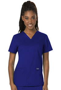 Cherokee Workwear V-Neck Top Galaxy Blue (WW620-GAB)