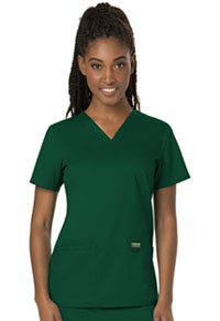 Cherokee Workwear V-Neck Top Hunter Green (WW620-HUN)