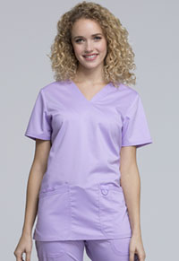 Cherokee Workwear V-Neck Top Oh So Orchid (WW620-OSOR)