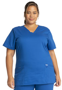 Cherokee Workwear V-Neck Top Royal (WW620-ROY)