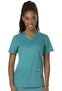 Cherokee Workwear V-Neck Top Teal Blue (WW620-TLB)