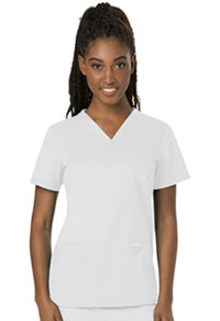 Cherokee Workwear V-Neck Top White (WW620-WHT)