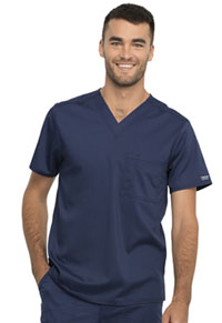 Cherokee Workwear Unisex 1 Pocket V-Neck Top Navy (WW625-NAV)