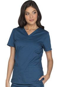Cherokee Workwear V-Neck Top Caribbean Blue (WW630-CARW)
