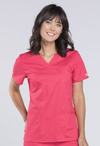 Cherokee Workwear V-Neck Top Fruit Punch (WW630-FTP)