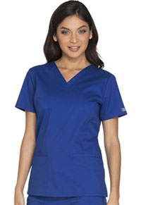 Cherokee Workwear V-Neck Top Galaxy Blue (WW630-GABW)