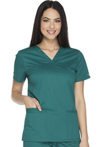 Cherokee Workwear V-Neck Top Hunter (WW630-HUNW)