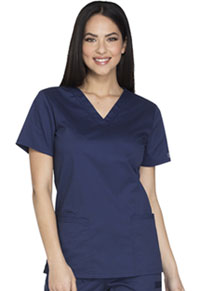 Cherokee Workwear V-Neck Top Navy (WW630-NAVW)