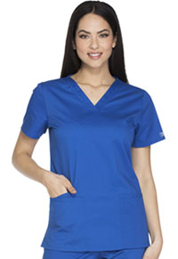 Cherokee Workwear V-Neck Top Royal (WW630-ROYW)