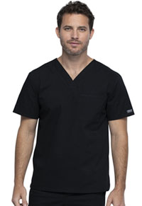 Cherokee Workwear Unisex V-Neck Top Black (WW644-BLK)