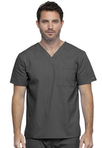 Cherokee Workwear Unisex V-Neck Top Pewter (WW644-PWT)