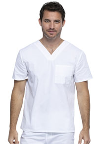 Workwear WW Professionals Unisex Tuckable V-Neck Top (WW644-WHT) (WW644-WHT)