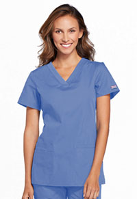 Cherokee Workwear V-Neck Top Ciel (WW645-CIEW)