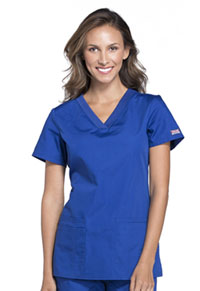 Cherokee Workwear V-Neck Top Galaxy Blue (WW645-GABW)