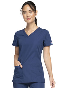 Cherokee Workwear V-Neck Top Navy (WW645-NAVW)