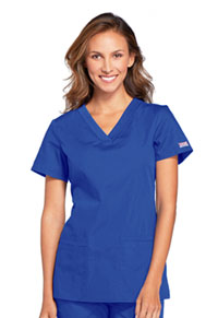 Cherokee Workwear V-Neck Top Royal (WW645-ROYW)