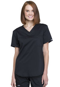 Cherokee Workwear Tuckable V-Neck O.R. Top Black (WW657-BLK)