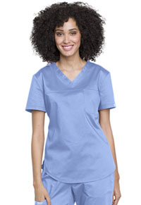 Cherokee Workwear V-Neck O.R. Top Ciel Blue (WW657-CIE)