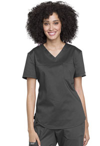 Cherokee Workwear Tuckable V-Neck O.R. Top Pewter (WW657-PWT)
