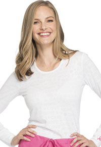Cherokee Workwear Long Sleeve Underscrub Knit Tee White (WW660-WHT)