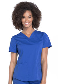 Cherokee Workwear V-Neck Top Galaxy Blue (WW665-GAB)