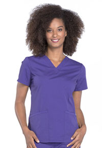 Cherokee Workwear V-Neck Top Grape (WW665-GRP)